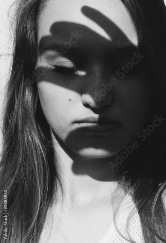 Fotografia, Obraz  Dramatic artistic portrait of a young woman