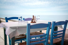 Traditional Greek Tavern - Copy Space