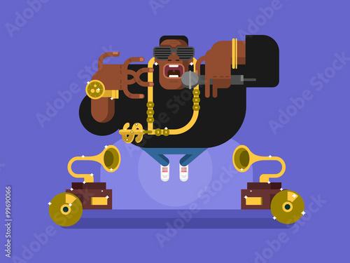 Fotografie, Obraz  Black rapper character