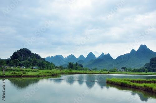 Foto op Aluminium Guilin Beautiful rural scenery in Guilin,China