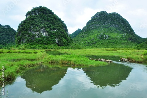 Foto op Canvas Guilin Beautiful rural scenery in Guilin,China