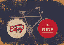 Bike Concept Vintage Bicycle Concept Grunge Poster