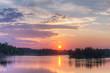 bright summer sunset