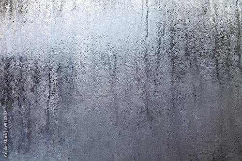 Fotografie, Tablou Steamy Window with Water Drops