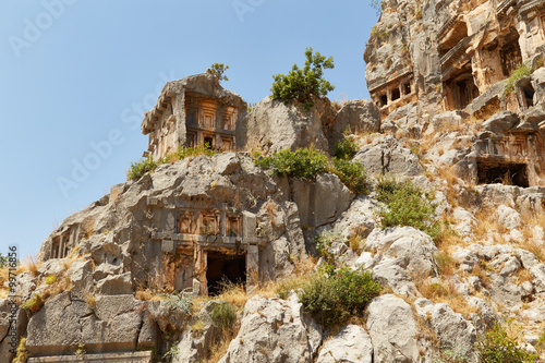 Foto op Aluminium Rudnes Tombs and ruins of the city of Mira - a photo 2
