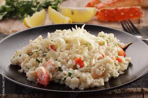 King crab risotto