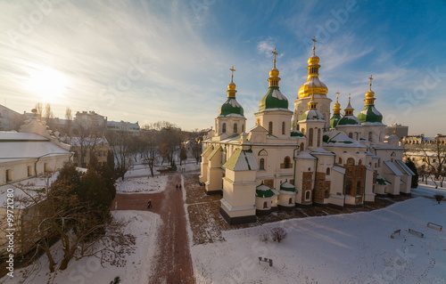 Foto op Plexiglas Kiev Kiev-Pechersk Lavra at winter
