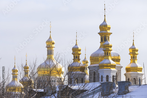 Staande foto Kiev Kiev-Pechersk Lavra at winter