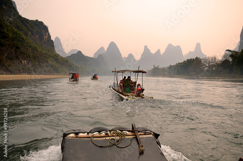 Tuinposter China Landscape in Yangshuo Guilin, China ..