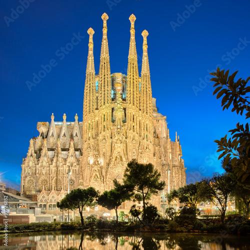 Sagrada Familia at night, Barcelona Canvas Print