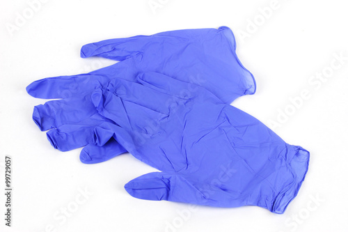 Fotografia, Obraz  latex gloves on white background
