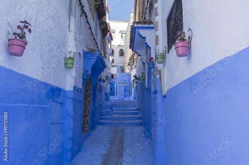Spoed Foto op Canvas Marokko モロッコの青い街・シャウエン