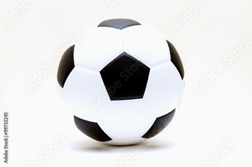 Fototapeta football and soccer ball isolated on white