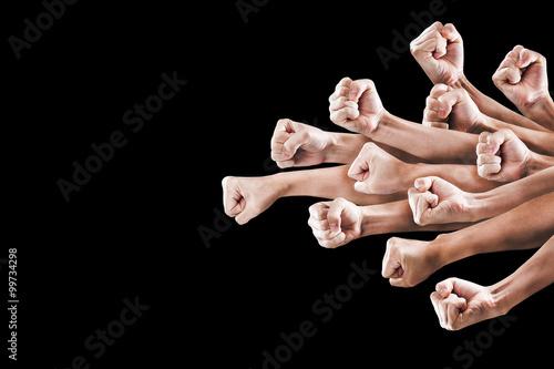 男性の拳,パンチ,テクスチャー Tableau sur Toile