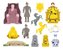 China History Objects Set, Tra...