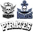 pirate themed design elements, pirate symbol