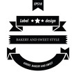 Retro style label set 3 design black color