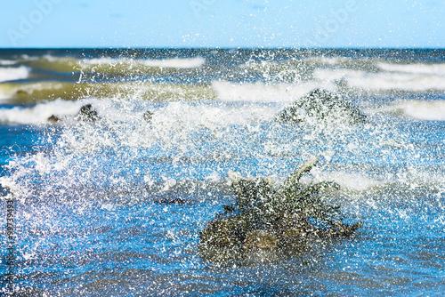 Photo  Water splash effect