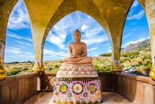 Buddha Statue  In Sky Background