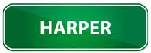 Popular Girl Name Harper On A Green Traffic Sign