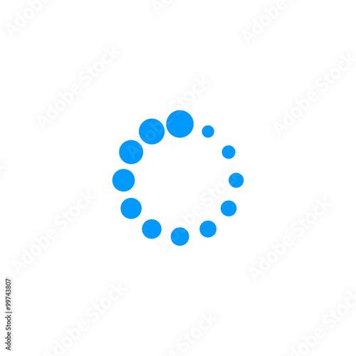 Fotografía  Vector circular loading icon