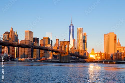 Poster Lieux connus d Amérique Morning over Manhattan