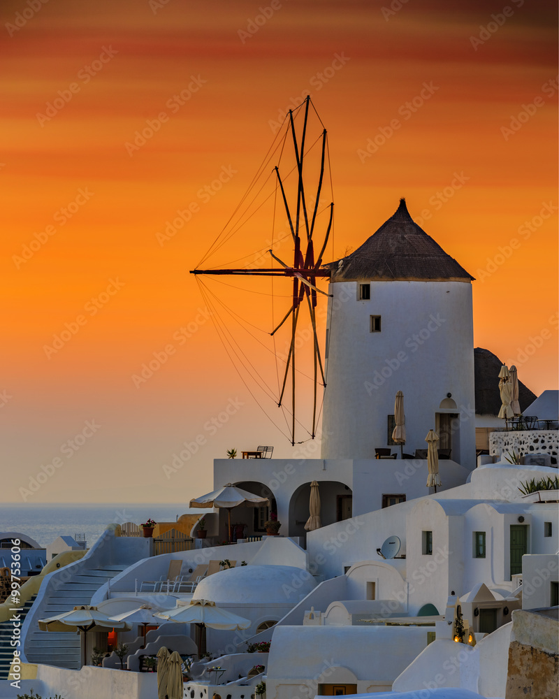 Fototapeta Santorini, Greece - Oia at sunset