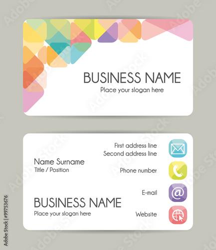 Fotografie, Obraz  Creative graphic business card design