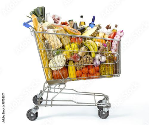 Papiers peints Assortiment Shopping cart