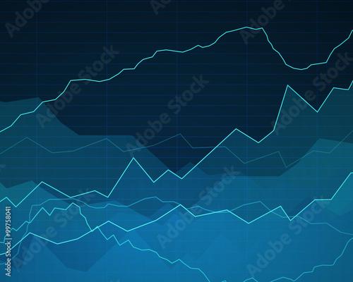 Fototapeta Vector Illustration of an Abstract Background with Graphs obraz na płótnie