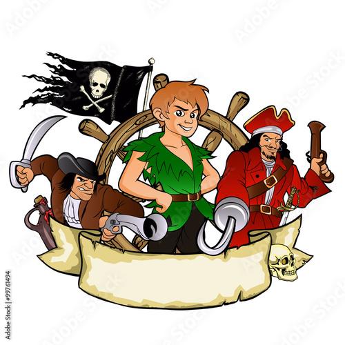 Photo  Peter Pan and the pirates emblem