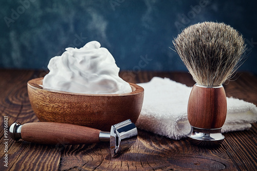 Fotografie, Obraz  Shaving accessories