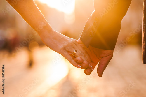 Beautiful couple holding