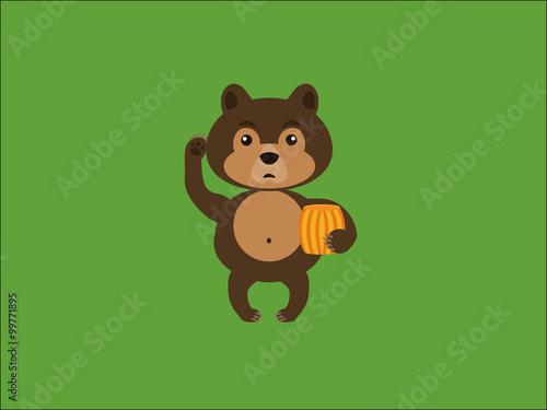 Photo  Bear and honey