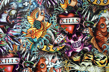 Public Graffiti Wall Urban Art Background. Grunge Hip Hop Artistic Design. Art Wall At Santorini Hua Hin Thailand