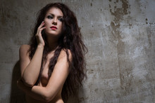 Nude Woman With Dark Hair