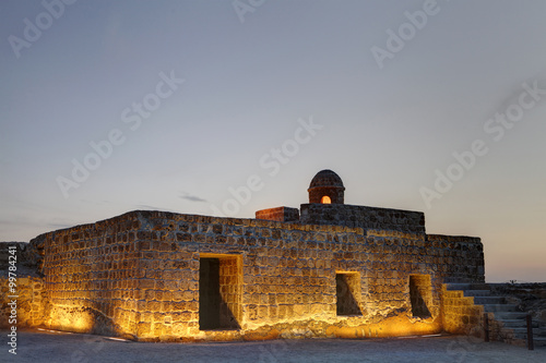 Fotografia, Obraz  Ancient Watch tower and rooms in the second level of Bahrain fort