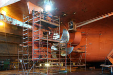 Renovation Work At The Helm Of The Ship Shipyard During The Renovation Of The Shipyard