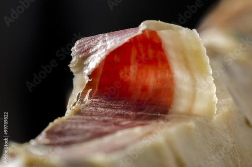 Foto  Iberian spanish ham, bellota ham.