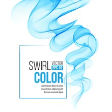 Vector Blue Swirl Line Abstract Background. Vector Illustration