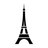 Fototapeta Eiffel Tower - Eiffel Tower / Tour Eiffel in Paris flat icon for apps and websites