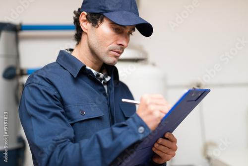 Plumber at work Slika na platnu