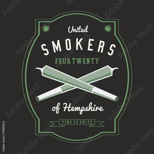 Photo  Ganja Marijuana Weed Vector Badge Design Print