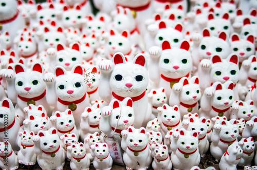 Tuinposter Tokyo Beckoning cats at Gotokuji-temple,setagaya area,tokyo,tourism of japan