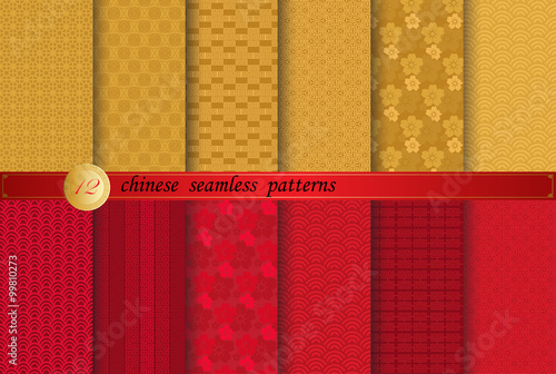 Photo  Chinese new year patterns, Pattern Swatches, vector, Endless texture can be used