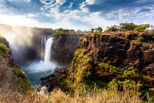 The Victoria Falls With Dramat...