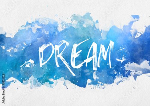 Foto  Traum motivierende blaue Farbe Hintergrund