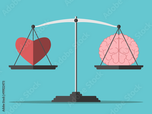 Balance, heart and brain Wallpaper Mural