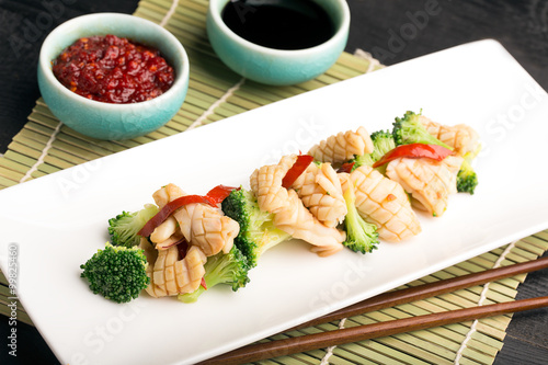 Stampa su Tela  Traditional chinese salad