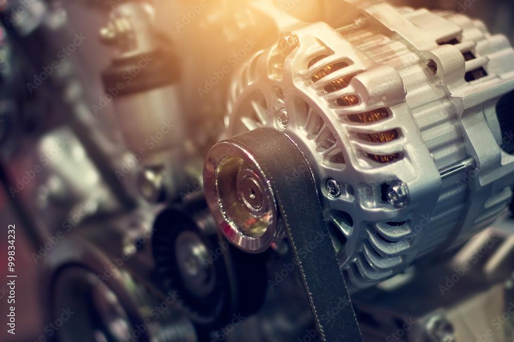 Poster Bunt Teil Automotor